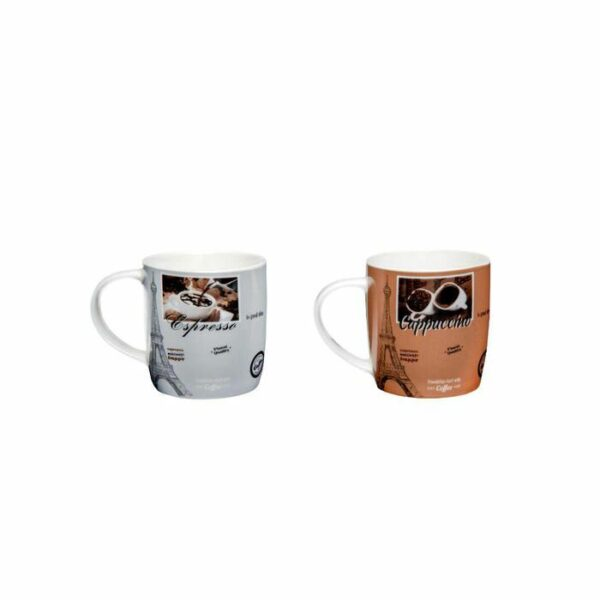 Caneca porcelana decorada tema coffez 340ml estampa sortidas